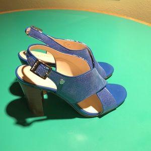 Calvin Klein Chunky Heeled Blue Jill Sandals s 6.5